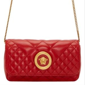 NEW Versace Mini Quilted Medusa Leather Cross Body